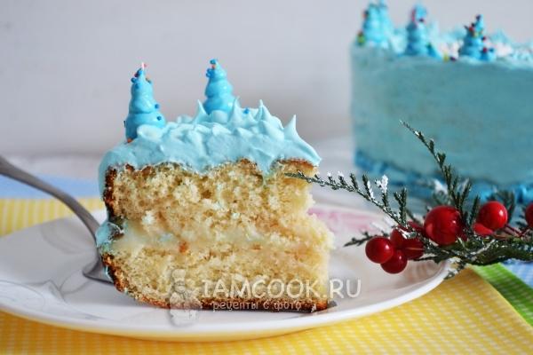 Готовый торт «Холодное сердце»