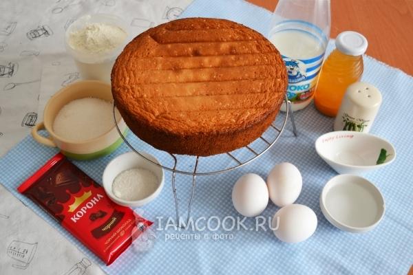Ингредиенты для торта «Холодное сердце»