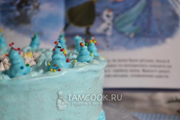 Украсить торт кремом