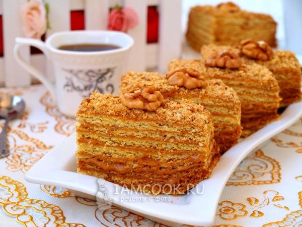 торт медовый со сгущёнкой рецепт с фото