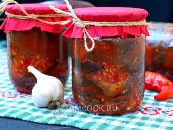Баклажаны острая закуска рецепты на зиму — 1