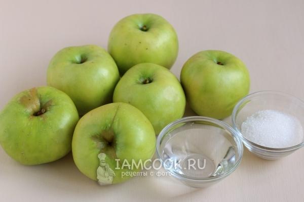 Ингредиенты для пастилы из яблок в домашних условиях в духовке