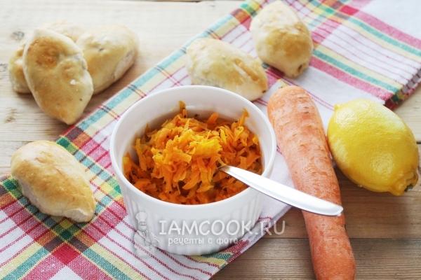 как приготовить морковную начинку в пирожки