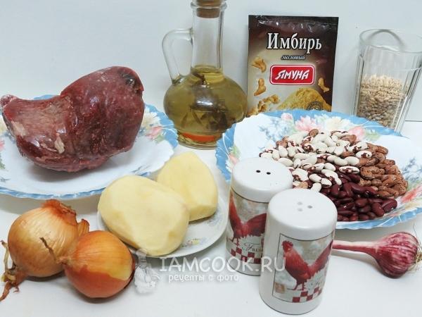 """Фасолевое рагу """"Чолнт"""" – кулинарный рецепт"""