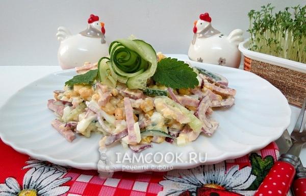 салат соломка рецепт с колбасой