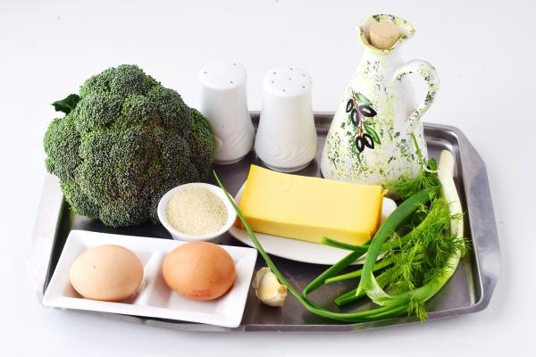 Ингредиенты для котлет из брокколи