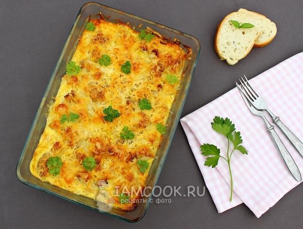 Цветная капуста с картошкой в рукаве в духовке