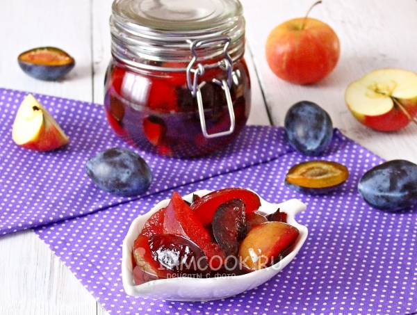 Варенье из яблок и слив в мультиварке