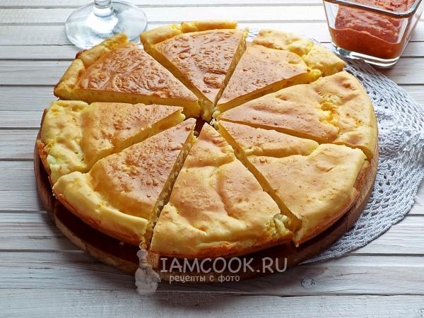 Рецепт быстрого пирога из жидкого теста на кефире