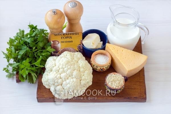 Ингредиенты для гратена из цветной капусты