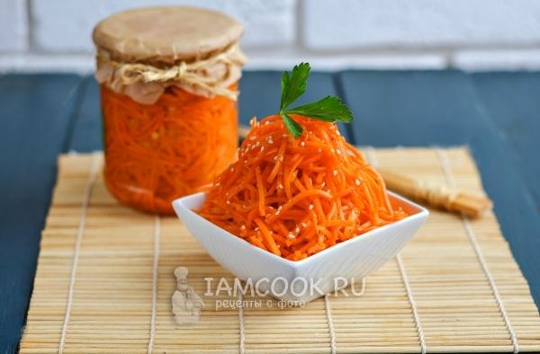 морковь по корейски в маринаде на зиму