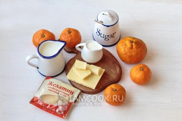 Ингредиенты для мандариновой панна котты