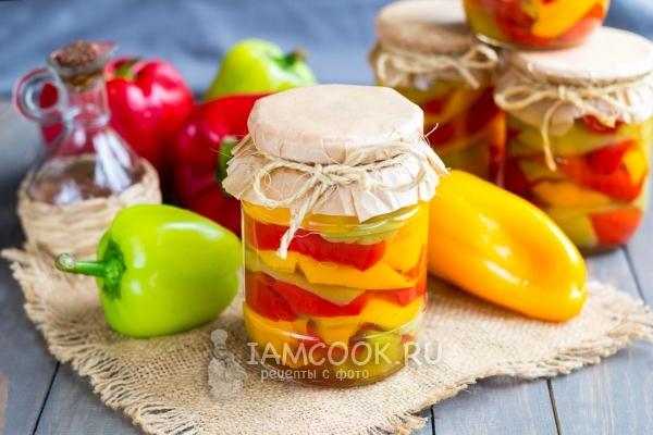 Перец маринованный на зиму рецепты с маслом