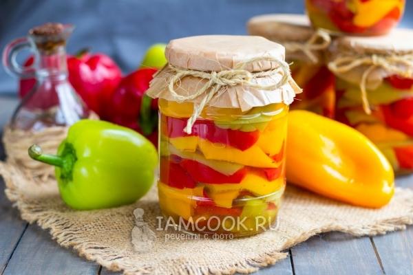 рецепт консервации перца в масле