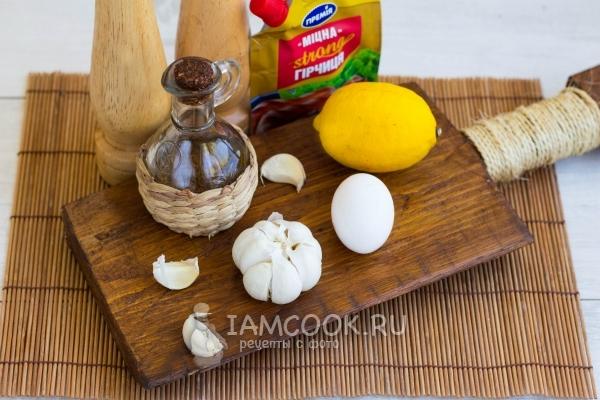 Ингредиенты для соуса айоли в домашних условиях