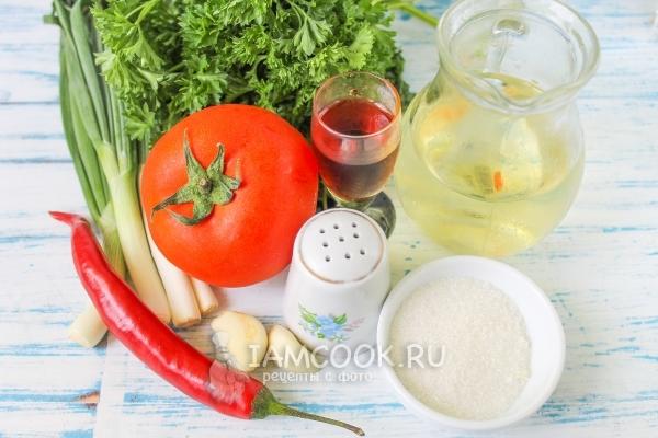 Ингредиенты для соуса табаско в домашних условиях