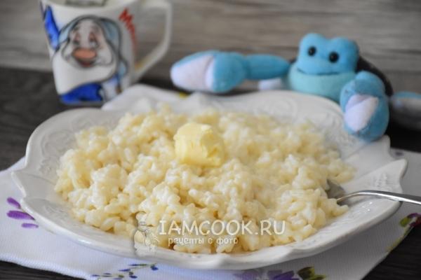 рисовая молочная каша как в садике