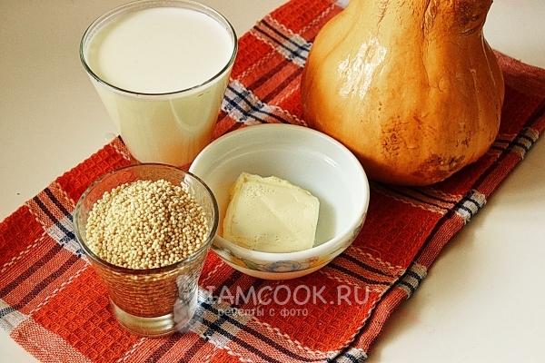 Рецепт - Пшенная каша с тыквой на admiral-kulinar.com