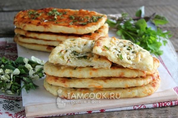 Рецепт лепёшек с сыром в духовке