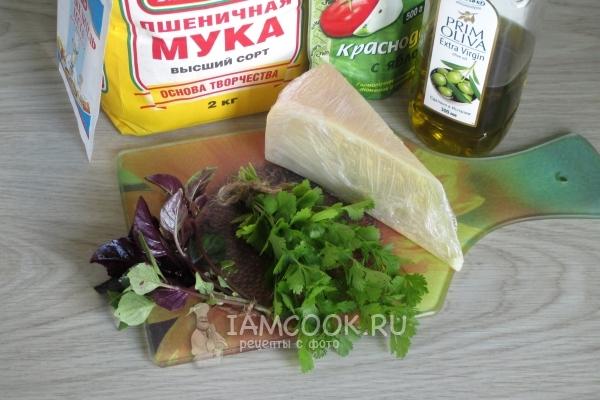Ингредиенты для лепёшек с сыром в духовке