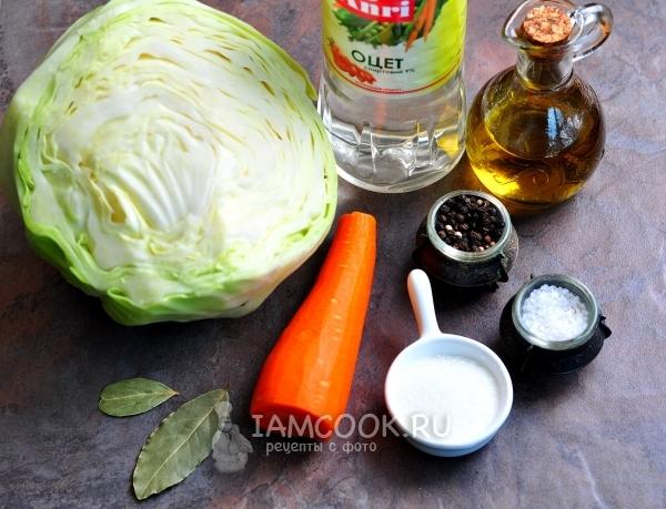 Как сделать капусту с уксусом быстрого