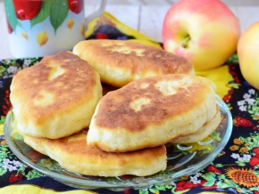 пирожки с яблоками рецепты с фото на сковороде