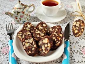 печенье для сладкой колбаски с орехами рецепт рейтинг