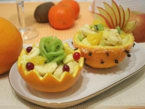 салат в апельсине рецепт с фото