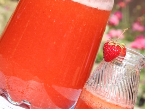 Клубничный лимонад, пошаговый рецепт с фото