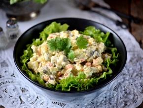 Салат цезарь рецепт без мяса
