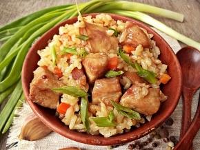 как приготовить рисовою кашу с мясом