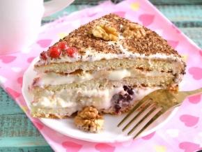 торт из готовых бисквитных коржей с ананасами рецепты