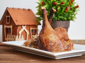 рецепт утки в духовке с фото пошагово с гречкой
