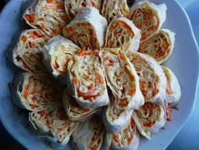 Закуска из моркови по-корейски и сыра