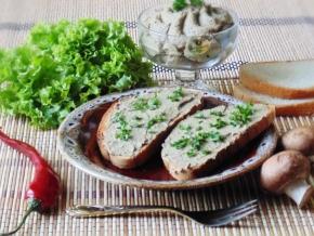 паштет из куриной печени и шампиньонами рецепт с блендером