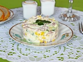 ветчина кукуруза сыр салат