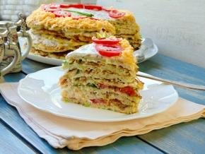 Закусочные торты рецепты с фото из баклажанов 5