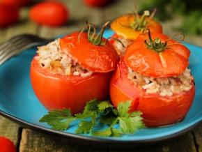 фаршированные помидоры рисом и фаршем