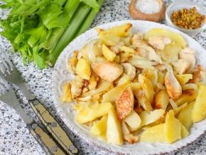 Курица с сельдереем и картошкой #2