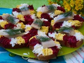 закуски из сельди на праздничный стол рецепты с фото