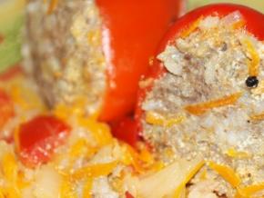 рецепты фаршированного перца с мясом и рисом