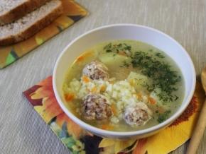 суп фрикадельковый с рисом