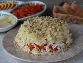 салат с курицей корейской морковкой и апельсинами рецепт