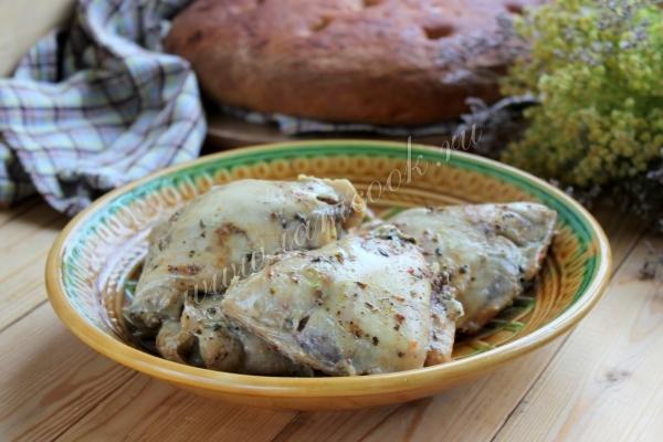 курица маринованная в белом вине