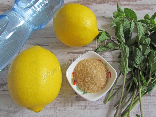 Ингредиенты для домашнего лимонада