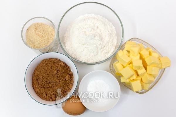 Ингредиенты для печенья с какао