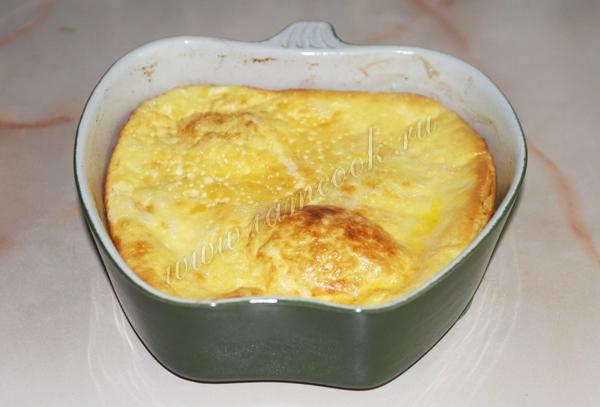 Запеченный зеленый омлет, пошаговый рецепт с фото