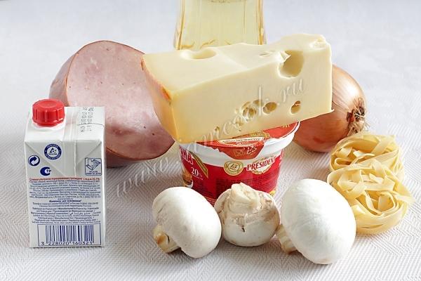 Гужер с грибами и ветчиной – кулинарный рецепт