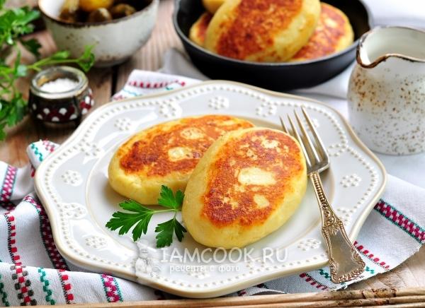 Зразы картофельные в духовке видео рецепт