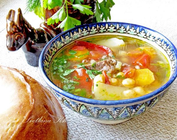 рецепт как готовить шурпу по казахски